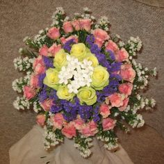 Biedermeier Bridal Bouquet - easy tutorial plus shows where to buy those professional florist supplies you need.