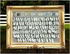 wedding key table seating cards/chart