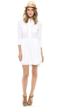 James Perse Tomboy Shirtdress - White