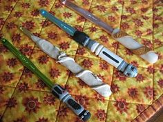 Crochet hooks that span 4 levels of geekery!  star wars, doctor who, harry potter and lord of the rings!
