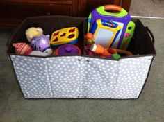 Thirty-One room to grow utility bin ... Great for storing toys! :)