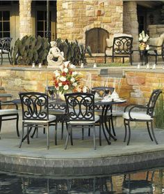 Create a romantic poise to any outdoor living space.