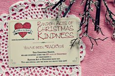 Causes of the Heart - Ocean City, MD - Random Acts of Christmas Kindness Cards (RACKed)