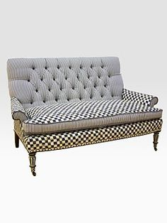 Love MacKenzie-Childs. #furniture #sofa #MacKenzieChilds