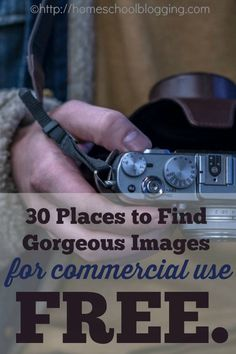30 Place to find FREE images, including photography, graphics, vector images, clipart available for use in your commercial project, ebook, website design, blog post, book, and more. #hsbloggers