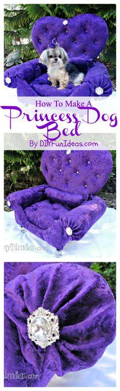 DIY Princess Dog Bed