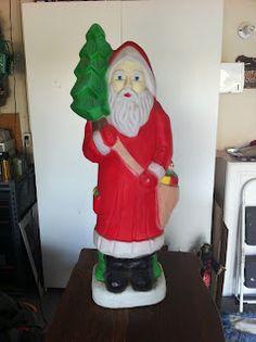 Vintage Christmas Blow Mold ~ Father Christmas / Santa Claus, Circa 1960's.
