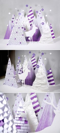 Winter wonderland crafted out of paper.
