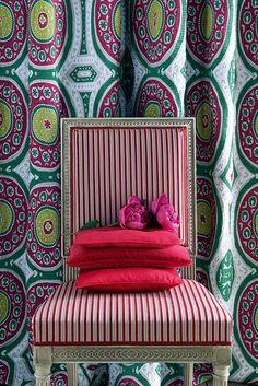 Color Crazy at Canovas / The English Room Blog. Manuel Canovas fabrics available through Jane Hall Design