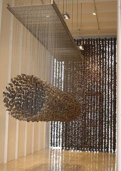 suspended stone installation
