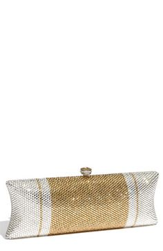 Gorgeous gold + silver clutch