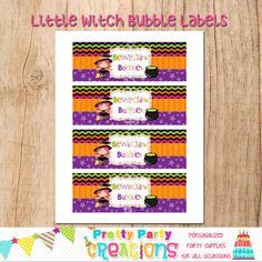 LITTLE WITCH BUBBLES  4oz bubble bottle by PrettyPartyCreations