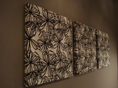 Fabric Wall Art #fabric