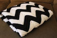 Chevron Crochet Baby Blanket - I loooove it.