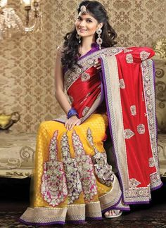 Multi color #lehenga choli is a in vogue this #Bridal Wear