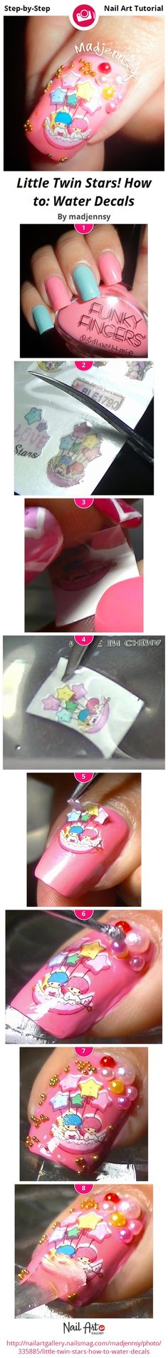 Little Twin Stars! How to: Water Decals