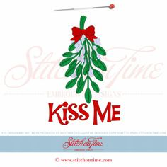 656 Christmas : Mistletoe Kiss Me 5x7