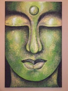Acrylic on Canvas Green Buddha Painting Print by BHoweryCreations, $20.00