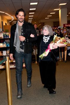 Joe Manganiello escorts Anne Rice to her book signing at the Barnes and Noble at The Grove in LA, February 17th    Anne Rice (whose new book is about werewolves) is a big fan of True Blood - Joe Manganiello appeared as a surprise courtsey of Anne Rice's son.