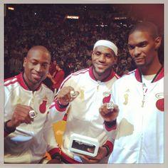 Miami Heat Championship rings