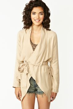 Nasty Gal / Draped Trench Jacket