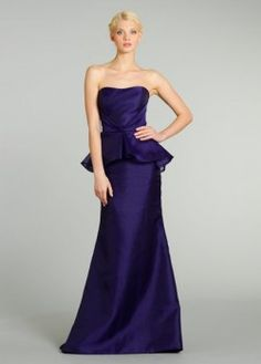Noir by Lazaro strapless bridesmaid dress