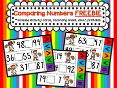 Comparing Numbers FREEBIE {Aligned with CCSS- 1.NBT.3, 2.NBT.4}