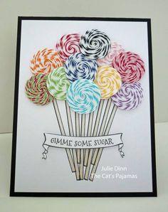 Bakers twine lollipops!