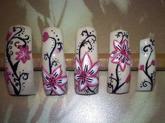 Pink Flower by ponceclau - Nail Art Gallery nailartgallery.nailsmag.com by Nails Magazine www.nailsmag.com #nailart