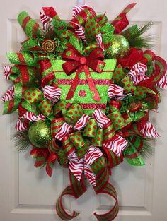 Christmas Mesh Wreath on Etsy, $105.00