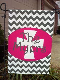 Personalized Garden Flag by KandyRiggsDesigns on Etsy, $30.00