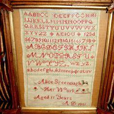 1851 Canadian Linen Sampler Age 11 Quebec