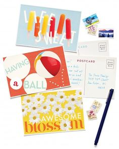 craft, postcard mailinglabel, summer theme, clip art, postcardsgreet card, art postcard, homemade postcards, printabl, summerthem postcard