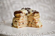 Protein Treats by Nicolette: Chocolate Chip Cookie Dough Protein Pancakes