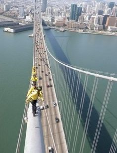 Whoa! View from the top of the Bay Bridge. -pic taken by Mike E.