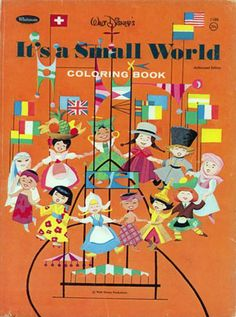 Disney It's a Small World Coloring Book, Whitman 1966