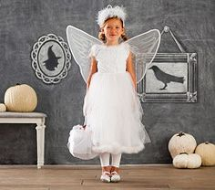 Kid Halloween Costumes & Halloween Kid Costumes | Pottery Barn Kids  -  Swan Fairy Costume