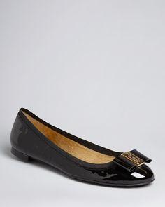 kate spade new york Round Logo Toe Ballet Flats - Tock | Bloomingdale's
