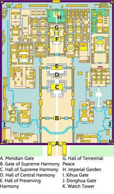 Forbidden City Map.