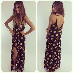 summer dresses, maxi dresses, beach, sunflow dress, sunflower maxi