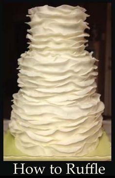 How to make Ruffle Cakes- great tutorials here.