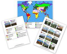 World Biomes Pin Map - Free Printable