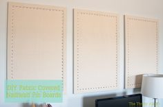 Homemade pin boards