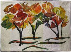 """""""Freak October Snowstorm"""" art quilt by Judy Ross"""