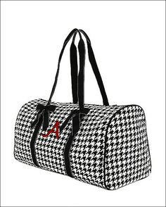 Personalized Hounds tooth Duffel