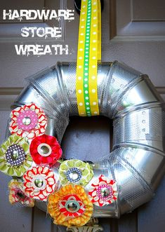 This hardware store wreath is just what my front door needs!
