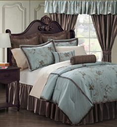 New Comforter Set,Queen Comforter,24Piece Bed In A Bag,Shams,Sheets,Pillows,Blue