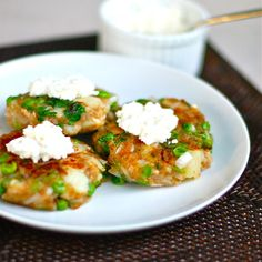 Aloo Tikki (Indian street food: mashed potato and pea pancakes with herbs and spices)--yet another version!