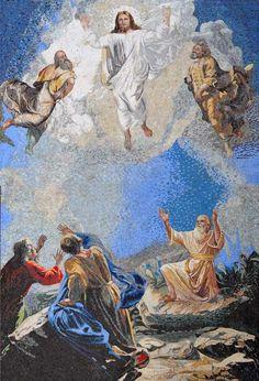 Jesus Christ Transfiguration Marble Mosaic