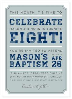 Cute LDS Baptism Invite